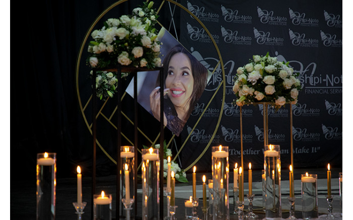 A memorial service for Nomasonto 'Mshoza' is held on 25 November 2020. Picture: Xanderleigh Dookey/EWN
