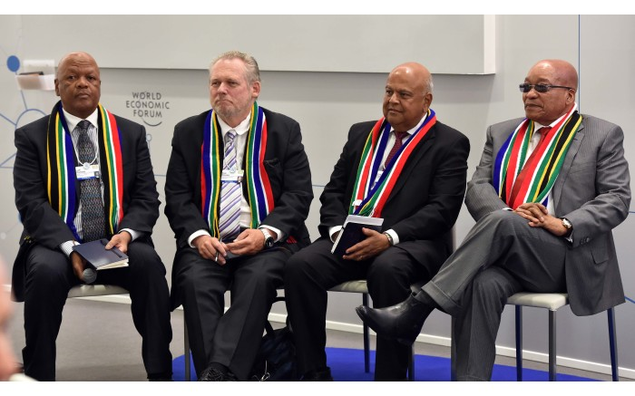SA's WISE MEN: President Jacob Zuma (far right) and three of his cabinet ministers. Picture: GCIS