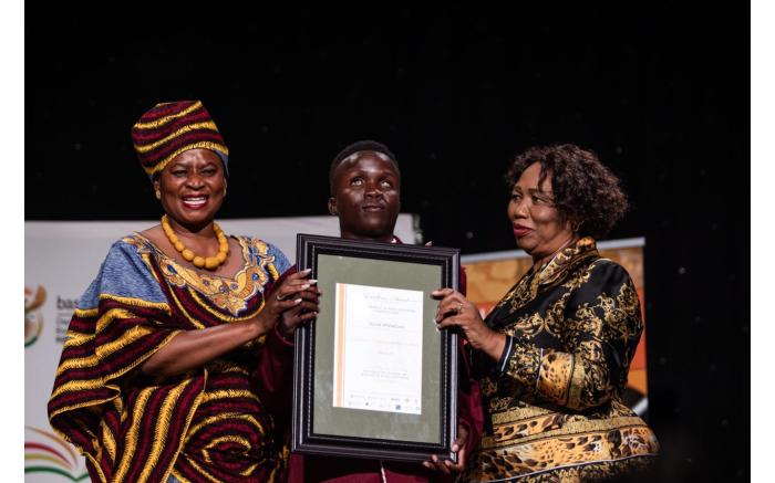 The top special needs pupil was Tiyani Mbendzani from Limpopo.