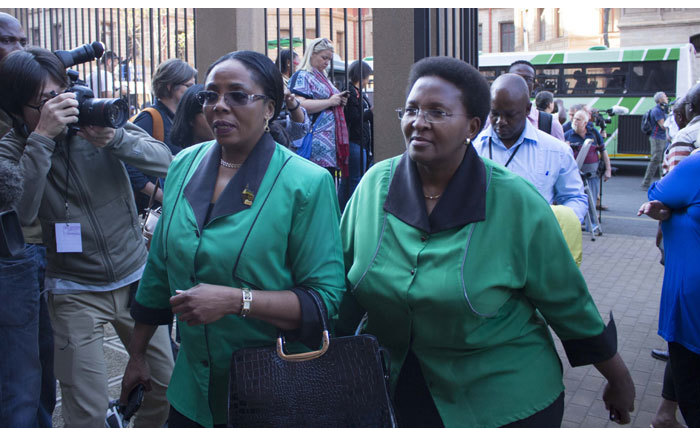 ANC Women League members arriving at the High Court in Pretoria ahead of Oscar Pistorius murder trial on 11 September 2014. Picture: Christa Eybers/EWN.