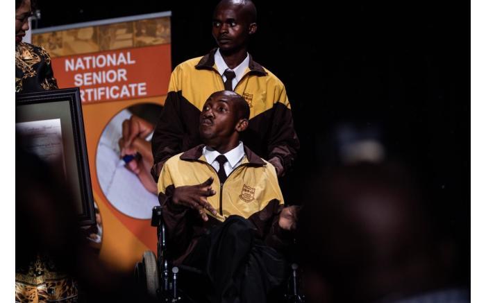 Special needs pupil Mandlenkosi Praise-God Mbatha from KwaZulu-Natal.