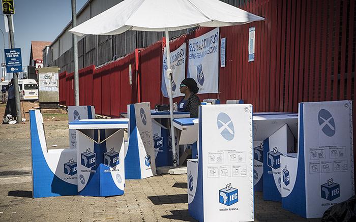 A temporary registration station set up in Denver, Johannesburg after protests left registration venues closed. Picture: Reinart Toerien/EWN