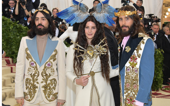 CROWNING GLORY: Alessandro Michele, Lana Del Rey, and Jared Leto.