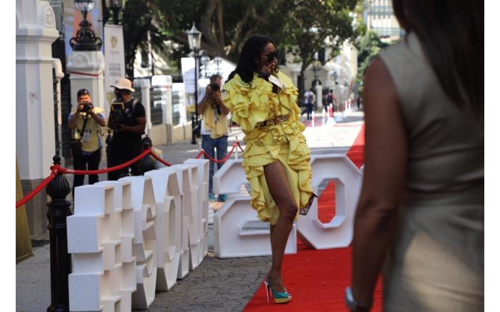 YELLOW FEVER: Model and businesswoman Babalwa Mneno. Kayleen Morgan/EWN