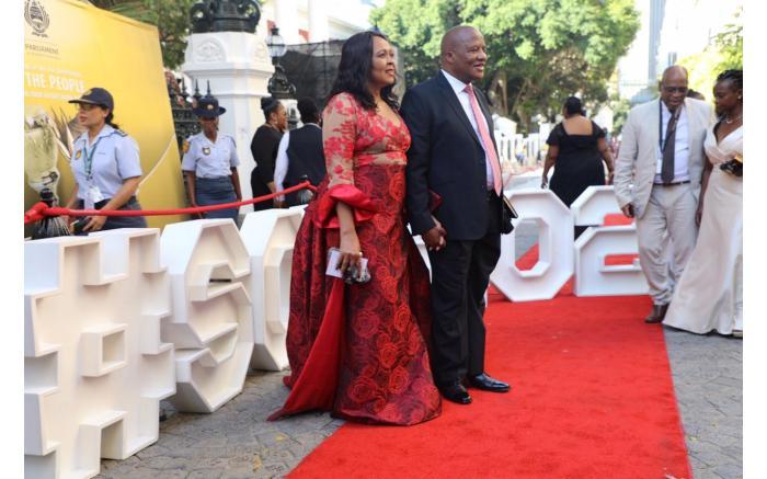 Minister in the Presidency Jackson Mthembu and his wife Thembi. Kayleen Morgan/EWN