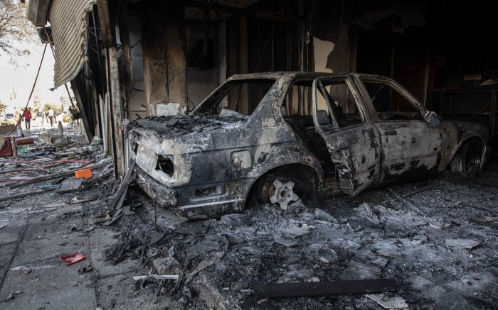 Several shops were looted and set alight in Malvern on 1 September 2019. Denver was also hit with looting in the morning of 2 September 2019