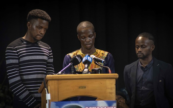 Enock Mpianzi's older brothers dedicated a moving tribute to their brother. Abigail Javier/EWN