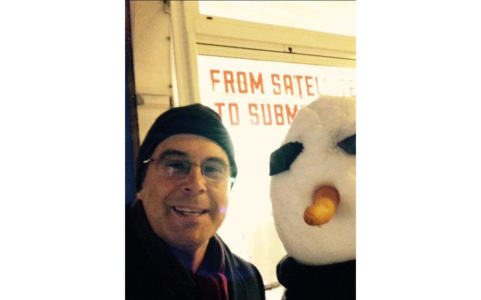 #snowmanselfie - #wef15 - moments earlier I nearly barreled into one of the worlds most powerful women...
