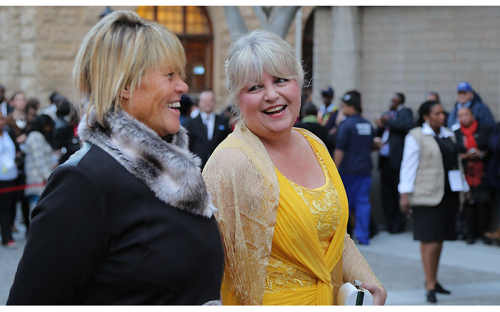 DA MPs Glynnis Breytenbach and Dianne Kohler-Barnard on the SONA red carpet on 17 June 2014. Picture: Aletta Gardner/EWN