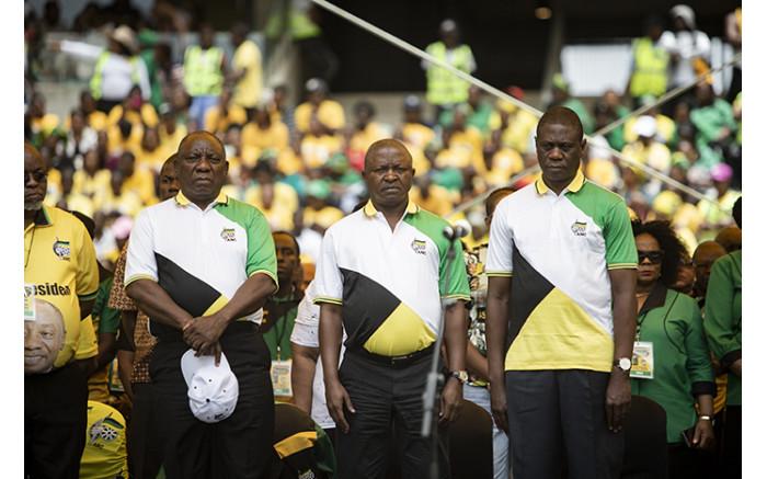 President Cyril Ramaphosa, Deputy President David Mabuza and Paul Mashatile. Picture: Sethembiso Zulu/EWN