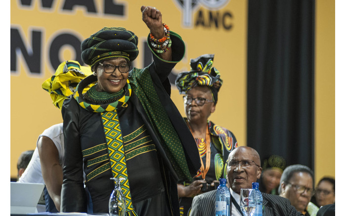 Winnie Madikizela-Mandela saluting the crowd. Picture: Ihsaan Haffeje