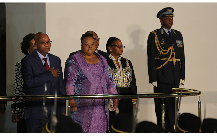 President Jacob Zuma and his wife Nompumelelo Ntuli at the State of the Nation Address on 17 June 2014. Picture: Aletta Gardner/EWN