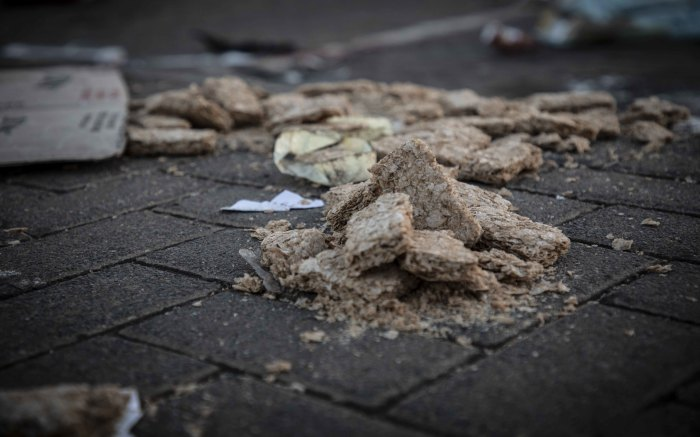 Crushed dry Weetbix. Picture: Abigail Javier/Eyewitness News