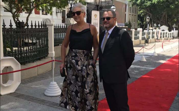 EARLY BIRDS: The DA's Natasha Mazzone and Kevin Mileham were among the first on the Sona red carpet. Kevin Brandt/EWN