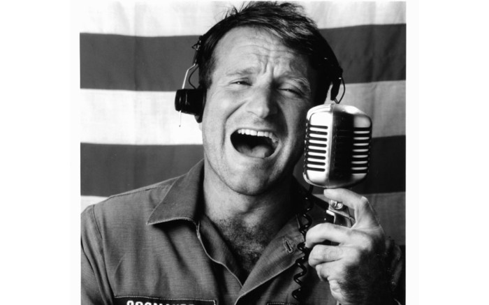 Robin Williams publicity portrait for the film 'Good Morning, Vietnam', 1987. Picture: Getty Images.