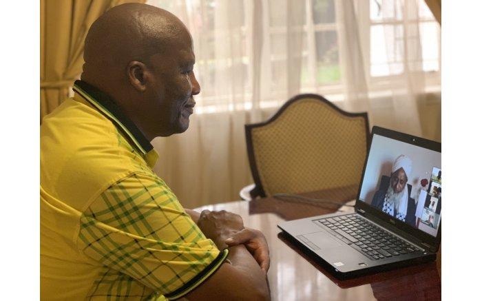 Jackson Mthembu takes part in the virtual January 8 Celebrations on 8 January 2021. Picture: Jackson Mthembu