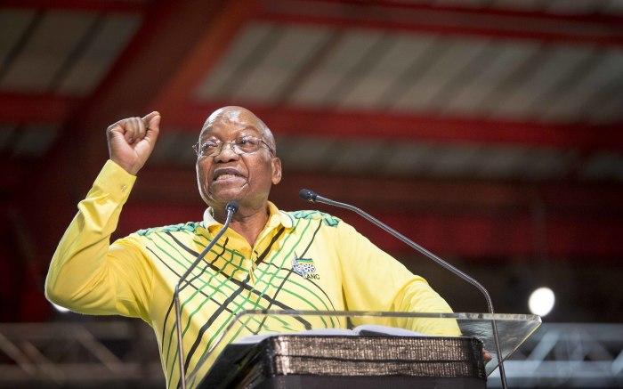 President Jacob Zuma addresses delegates on 16 December 2017. Picture: Thomas Holder/EWN
