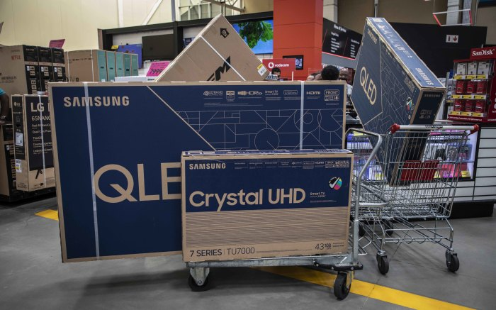 Televisions were a popular item at Makro Woodmead on Black Friday.