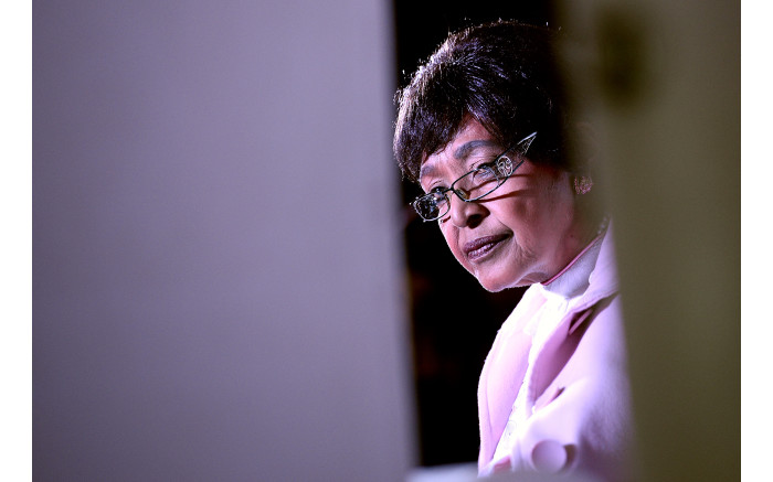 Winnie Madikizela-Mandela during an autograph session for the release of her new book