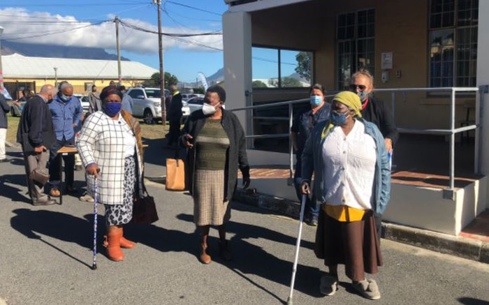 On the first day of the second phase of SA's vaccination rollout, the elderly queue at Brooklyn Chest Hospital. Picture: Graig-Lee Smith