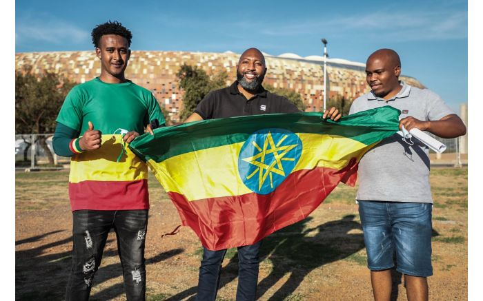 Fans came to watch the Bafana Bafana vs Ethiopia in a 2022 FIFA World Cup qualification match live. Picture: Abigail Javier/EWN