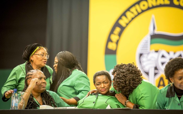 Bathabile Dlamini and ANC Women's League members at the party's 54th national conference on 16 December 2017. Picture: Thomas Holder/EWN.