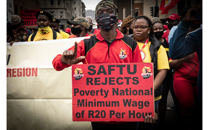 Protesters marched in Johannesburg on 7 October 2020 to demand better service delivery from government. Picture: Xanderleigh Dookey/EWN