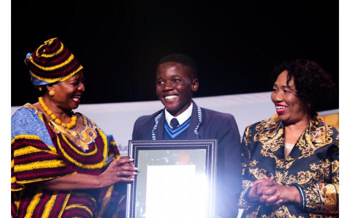 Top learner for technical physics Masixole Nogemane from the Eastern Cape.