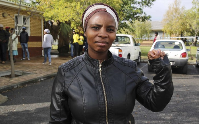 Nolethu Mayekiso is optimistic that she made the right chose when casting her vote. Picture: Cindy Archillies/EWN.