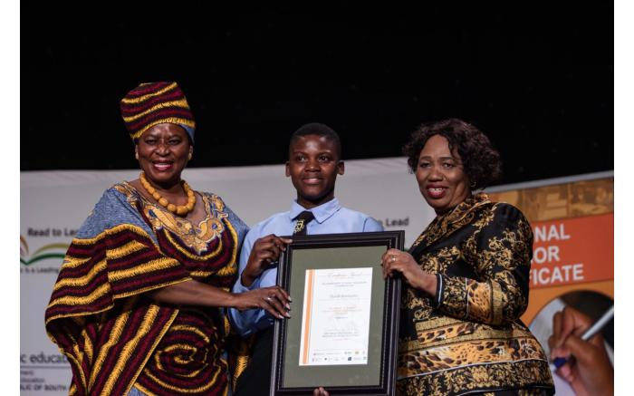 The South African Sign Language top achiever Thabile Mathumbu from KwaZulu-Natal.