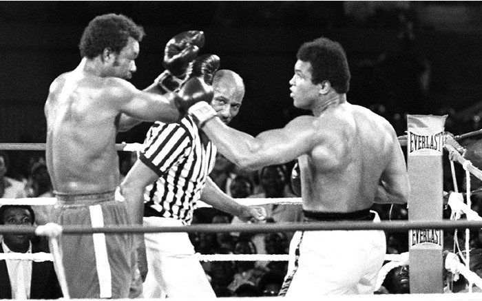 US boxer Muhammad Ali, three-time World Heavyweight Champion and winner of an Olympic Light-heavyweight gold medal.