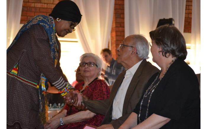 Winnie Madikizela-Mandela, Ahmed Kathrada, Barbara Hogan and Frene Ginwala were taken in Lenasia several years ago.