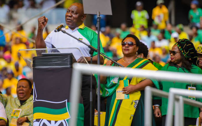 President Cyril Ramaphosa calls on people to vote for the ANC. Picture: Twitter @MyAnc.
