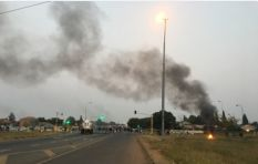 Ennerdale residents block roads with burning tyres