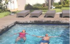 Social media reacts to Jacob Zuma tweet of him relaxing in a pool
