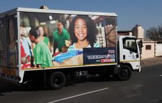 Xolani visits the Mthimkhulu Stimulation Centre with the 702 Truck of Love