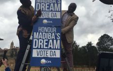 Maimane unveils DA's new 'Madiba poster' on campaign trail
