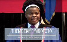[MUST WATCH] Thembekile's inspiring speech at the UFS graduation ceremony