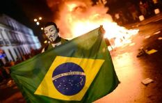 How is Brazil in recession three months after hosting FIFA 2014 World Cup?