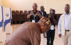 Mangosuthu Buthelezi in sombre mood, first time voting without his wife - report