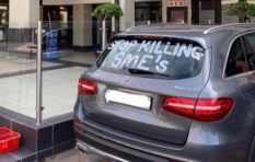 [LISTEN] Protester on painting 'Stop killing SMEs' on his car outside Woolies