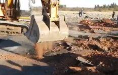 [WATCH] Protesters 'hijack' excavator during N12 demonstrations