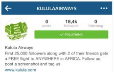 Fake Kulula account offers free flights to followers on Instagram