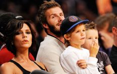 David Beckham kissing his 5 year old on the lips causes uproar
