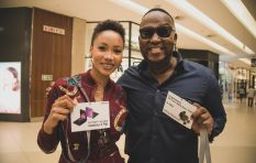 Azania, Bongani queue for new model flip phone