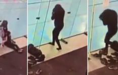 [WATCH] A woman bumps into glass partition not once, but three times