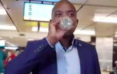 [WATCH] Mmusi takes it on the chin, drinks Woolies water and gets '4/10' right