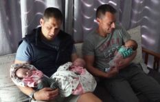 The beautifully bizarre story that gave this gay couple their baby triplets