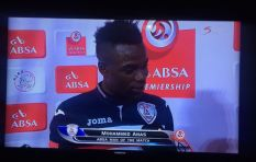 Footballer thanks wife and girlfriend during post-match interview