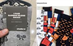 Sexy Socks says Woolworths copied. But do they look the same? You be the judge